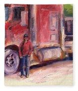 Her Truck Fleece Blanket