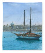 Hera 2 Valletta Malta Fleece Blanket
