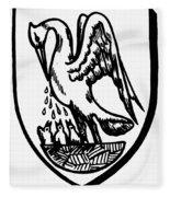 Heraldry Pelican Fleece Blanket