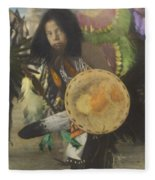 Heratige #1-young Traditional Dancer Fleece Blanket