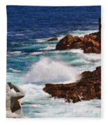Hercules On The Argonauts Ship Fleece Blanket