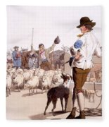 Herdsmen Of Sheep And Cattle, From The Fleece Blanket