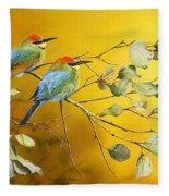 Here Comes The Sun - Rainbow Bee-eaters Fleece Blanket