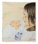 Here I Am Sister Fleece Blanket