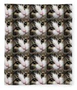 Here Kitty Kitty Close Up 25 Fleece Blanket