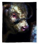 Hereford Bull 2 Fleece Blanket