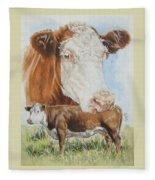 Hereford Cattle Fleece Blanket