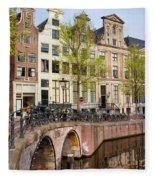 Herengracht Canal Houses In Amsterdam Fleece Blanket
