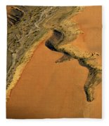 heridas de tierra Aerial photography Fleece Blanket