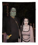 Herman And Lilly Munster Fleece Blanket