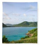 Hermitage Bay Panorama Antigua Fleece Blanket
