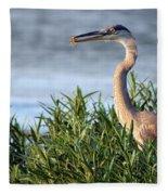 Heron And Crayfish 2029 Fleece Blanket
