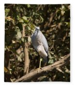 Heron At Katherine Gorge Fleece Blanket