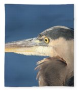 Heron Close-up Fleece Blanket