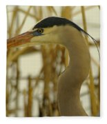 Heron Close Up Fleece Blanket