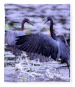 Heron Encounter - Battle - Fight Fleece Blanket