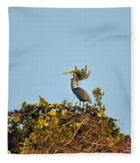 Heron Perch Fleece Blanket