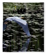 Heron Take Off Fleece Blanket