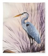 Herons Driftwood Home Fleece Blanket