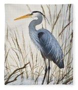 Herons Natural World Fleece Blanket