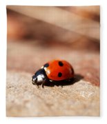 Hey There Little Lady Bug Fleece Blanket