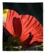 Hibiscus 10 Fleece Blanket