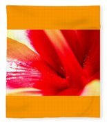 Hibiscus Abstract In Red And Yellow Fleece Blanket