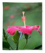 Hibiscus Ballerina Fleece Blanket