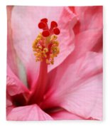 Hibiscus Flower Close Up Fleece Blanket