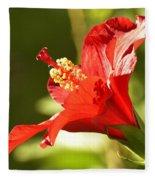 Hibiscus Loving Sun Fleece Blanket