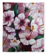 Hibiscus Pink 3  Fleece Blanket