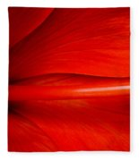 Hibiscus Red Fleece Blanket