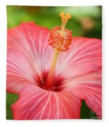 Hibiscus - Square Fleece Blanket
