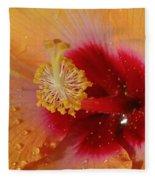 Hibiscus Stamen IIi Fleece Blanket