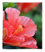 Hibiscus Summer Fleece Blanket