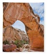 Hickman Bridge Natural Arch Fleece Blanket