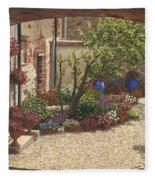 Hidden Garden Villa Di Camigliano Tuscany Fleece Blanket