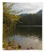 Hidden Lake No. 1 Fleece Blanket