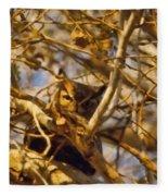 Hidden Owl Fleece Blanket