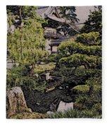 Hidden Pagoda Fleece Blanket