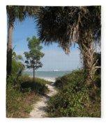 Hidden Path To The Beach Fleece Blanket