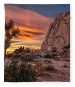 Hidden Valley Rock - Joshua Tree Fleece Blanket