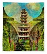 Hidden Zen Fleece Blanket
