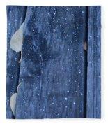 Hiding From The Snow Fleece Blanket