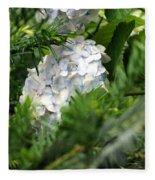 Hiding Hydrangea Fleece Blanket