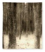 Hiding In The Trees By Diana Sainz Fleece Blanket