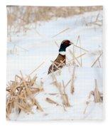 Hiding Rooster Fleece Blanket