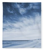 Higbee Beach Cyanotype Fleece Blanket