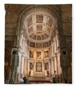 High Altar In Church Of Jeronimos Monastery Fleece Blanket