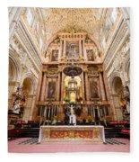 High Altar Of Cordoba Cathedral Fleece Blanket